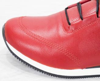 Мъжки спортни  обувки естествена кожа червени LDWV-25250