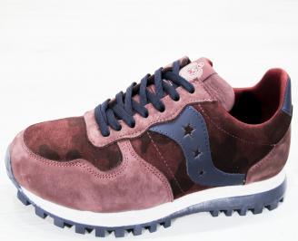 Мъжки спортни  обувки естествен велур /набук