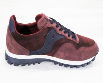 Мъжки спортни  обувки естествен велур /набук HRXG-25251