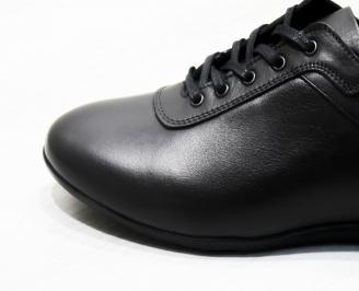 Мъжки спортни обувки естествена кожа черни XCOW-25312
