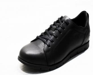 Мъжки спортни обувки естествена кожа черни OCJT-25313