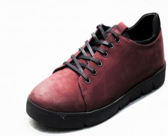 Мъжки спортни обувки естествена кожа червени BTGK-25314
