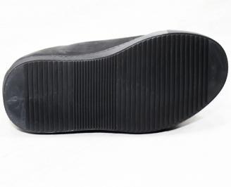 Мъжки спортни обувки естествена кожа черни GMOT-25315