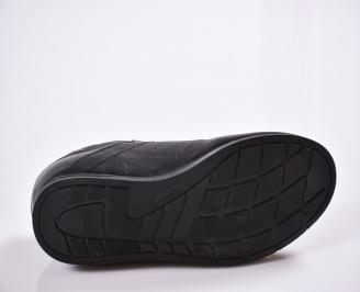 Мъжки спортни обувки естествена кожа черни NVKJ-25323