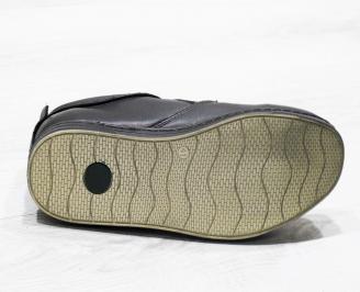 Мъжки спортни обувки естествена кожа черни NFYL-25498