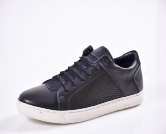Мъжки спортни  обувки естествена кожа сини UBDB-27018