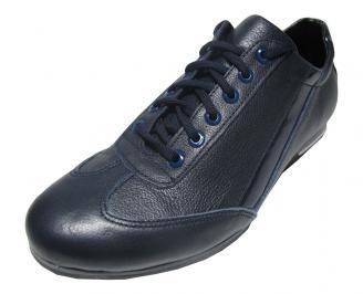 Мъжки спортни  обувки естествена кожа сини WQBX-14905
