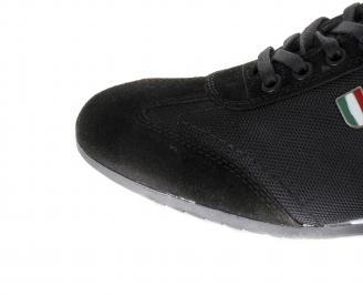 Мъжки спортни обувки естествен велур/текстил черни GLYP-16372
