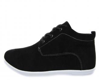 Мъжки спортни обувки естествен набук черни WGDQ-19860