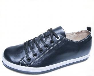 Мъжки спортни обувки естествена кожа тъмно сини RUCE-19981