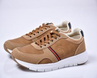 Мъжки спортни обувки кафяви TFCG-1014104