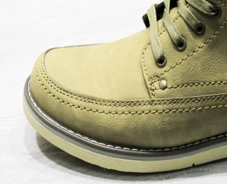 Мъжки спортни обувки кафяви еко кожа Bulldozer KVRX-22480