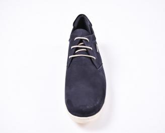 Мъжки спортни  обувки набук сини DCRB-1010812