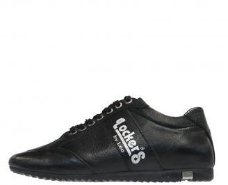 Мъжки спортни обувки от естествена кожа черни KOZJ-10100