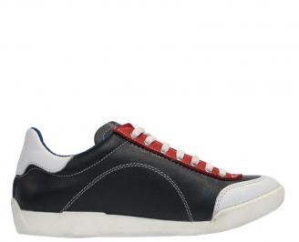 Мъжки спортни обувки от естествена кожа черни AWLO-10049