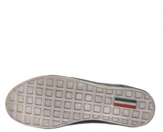 Мъжки спортни обувки от естествена кожа черни QYAR-10088