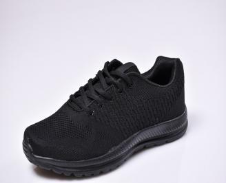 Мъжки спортни обувки текстил черни JEHP-1010323