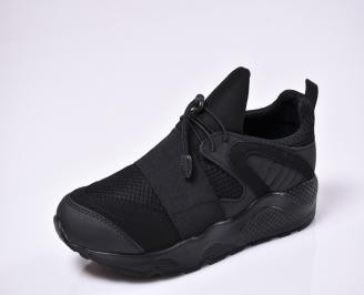 Мъжки спортни обувки текстил черни GIUU-1010327