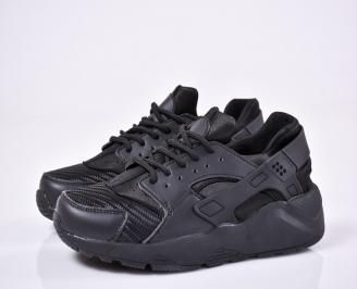 Мъжки спортни обувки текстил/мрежа черни LASC-1011113