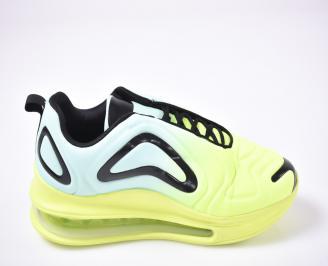 Мъжки спортни обувки текстил зеленo/синьо QOAM-1013505