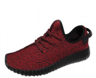 Мъжки спортни обувки текстил червени KJQZ-21166