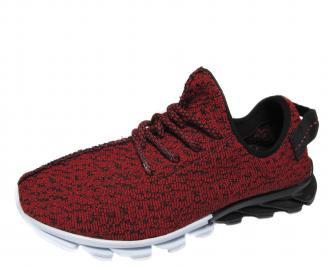 Мъжки спортни обувки текстил червени OXNP-21167