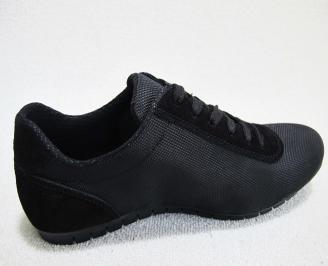 Мъжки спортни  обувки текстил черни VQDE-23079