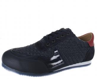 Мъжки спортни обувки тъмно сини еко кожа CIGK-19167