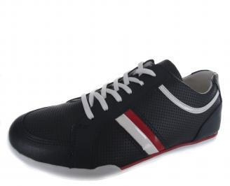 Мъжки спортни обувки тъмно сини еко кожа TCZZ-19220