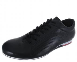 Мъжки спортни обувки тъмно сини естествена кожа NXHL-19221