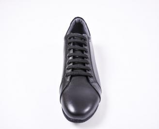 Мъжки спортно елегантни обувки естествена кожа черни XGOT-1010814