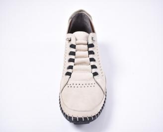 Мъжки спортно елегантни обувки набук бежови JXJW-1012627
