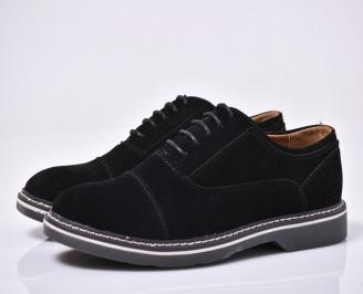 Мъжки спортно елегантни  обувки черни KBEV-1014200