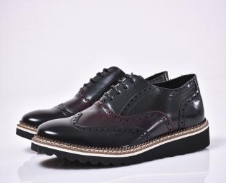 Мъжки спортно елегантни обувки черни OVAA-1014202