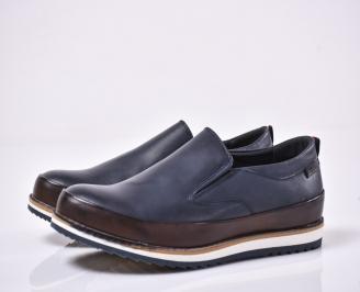 Мъжки спортно елегантни обувки сини URUQ-1014204