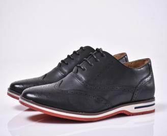 Мъжки спортно елегантни обувки черни XKWY-1014206