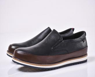 Мъжки спортно елегантни обувки  черни FMKQ-1014209