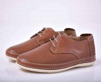 Мъжки спортно елегантни обувки кафяви  BKVT-1015674