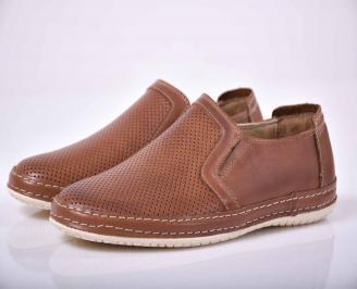 Мъжки спортно елегантни обувки кафяви  AXEJ-1015675
