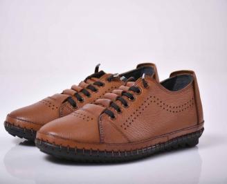 Мъжки спортно елегантни обувки кафяви  RQVQ-1015762
