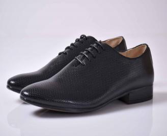 Мъжки спортно елегантни обувки черни  LSPC-1015909