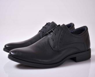 Мъжки спортно елегантни обувки черни  CNDH-1015910