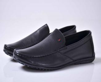 Мъжки спортно елегантни обувки черни  ELOV-1015926