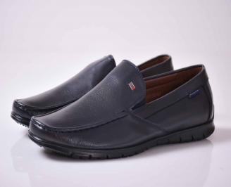 Мъжки спортно елегантни обувки сини  QGCO-1015993