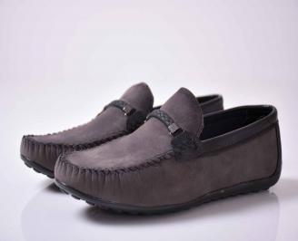 Мъжки спортно елегантни обувки сиви  AEOI-1016030