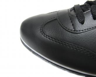 Мъжки спортно елегантни обувки еко кожа черни OWNH-20440
