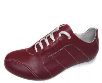 Мъжки спортно елегантни обувки естествена кожа червени UHHE-20948