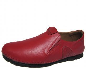 Мъжки спортно елегантни обувки естествена кожа червени AXRC-21284