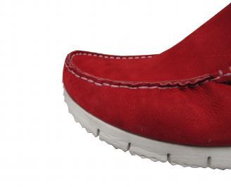 Мъжки спортно елегантни обувки набук червени UYEA-21490