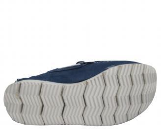 Мъжки спортно елегантни обувки тъмно сини набук RSOC-21494
